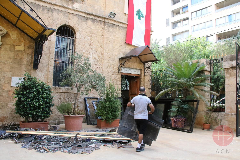 Iglesia de San Salvador de Beirut. (ACN)