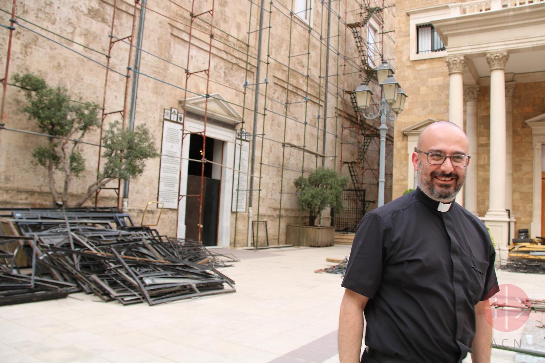 P. Jad Chlouk, párroco de la catedral maronita de San Jorge. (ACN)